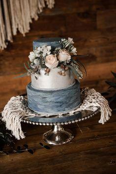 Lush Dusty Blue Wedding Inspiration with Macrame Decor #2019weddingtrends #modernweddingcolors #bluetweddingdresses