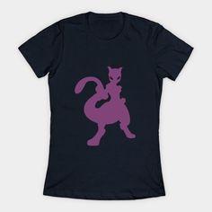 Minimalist Pokemon, Mewtwo Womens T-Shirt