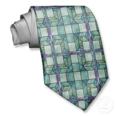 Faux Stained Glass fun tie