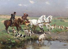 """Zygmunt Ajdukiewicz """"Na tropie"""", Monachium 1889, olej na desce, 55,5 x 77 cm, własność prywatna"""