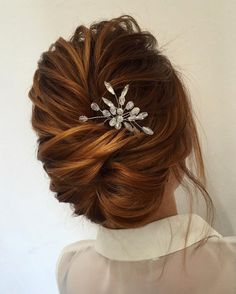 Beautiful updo wedding hairstyle idea - wedding hair ,hairstyle ,updo ,messy updo ,hair updo ideas ,hair ideas ,bridal hair ,french chignon ,messy updo hair ,wedding hairstyles ,hairstyles ,hairs ideas