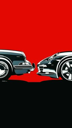 Singer Porsche, Porsche 911, Bmw Wallpapers, Car Illustration, Tuner Cars, Japan Cars, Car Posters, Car Drawings, Top Cars