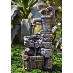 Water Pump and Rock Fountain ** You can find more details by visiting the image link. (This is an affiliate link) #IndoorFountainsAccessories