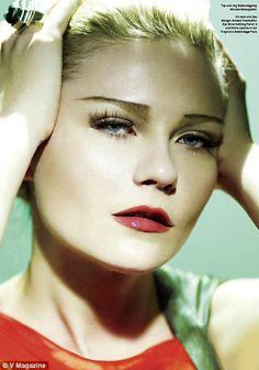 Kirsten Dunst for V Magazine 1930s glamour makeup