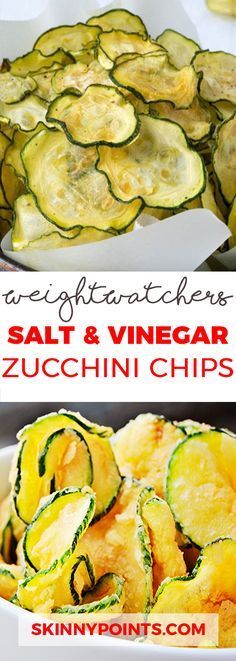 Salt and Vinegar Zucchini Chips – 2 Smartpoints Salt and Vinegar Zucchini Chips – Only 2 Weight Watchers SmartPoints Weight Watchers Zucchini, Courgettes Weight Watchers, Plats Weight Watchers, Weight Watchers Meals, Weight Watcher Snacks, Weight Watchers Sides, Weight Watchers Appetizers, Ww Recipes, Low Carb Recipes