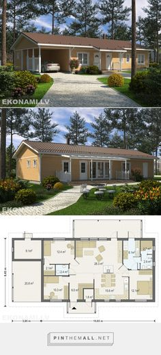 Karkasu māja Ekonami 14. 138 m2