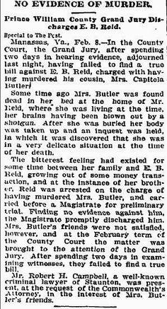 Thriller Thursday: Murder of Capitola Butler #genealogy #familyhistory