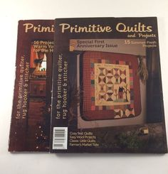 2 Primitive Quilts & Projects Magazines Winter 2011 Summer 2012 1st Anniversary