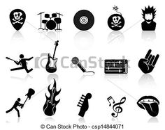 Image result for free images and illustrations and clipart rock in roll