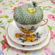 teacup pin cushion tutorial I have the teacup and saucer!
