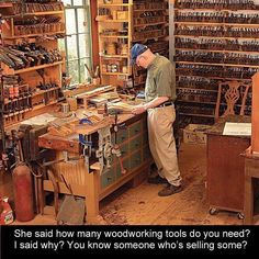 3 Beaming ideas: Woodworking Tips Cleanses woodworking workshop dads.Woodworking Projects Man Cave woodworking bed do it yourself.Woodworking Tools Must Have. Garage Woodworking Shop Ideas, Essential Woodworking Tools, Woodworking Workshop, Woodworking Bench, Fine Woodworking, Woodworking Crafts, Popular Woodworking, Woodworking Basics, Woodworking Techniques