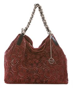 Another great find on #zulily! Bordeaux Leather Swirl Hobo #zulilyfinds