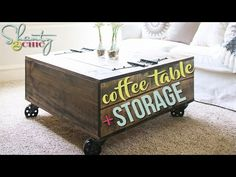 Farmhouse End Table Diy Best Of Diy Storage Coffee Table & Video Tutorial Shanty Diy Storage Coffee Table, Cart Coffee Table, Table Storage, Round Coffee Table, Coffee Table Design, Diy Table, Table Bench, Bench Seat, Shanty 2 Chic