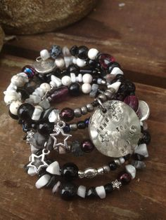 Renew Your Spirit Five Wrap Memory Wire Bracelet by DFInspirations, $40.00