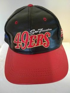 f5d360f7709 VTG San Francisco 49ers snapback baseball hat cap leather NFL Branded USA  made  NFL