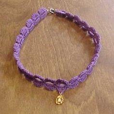 Charmed Choker - A free Crochet pattern from jpfun.com.
