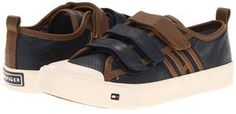 Tommy Hilfiger Kids - Jeremiah (Little Kid/Big Kid) (Navy/Brown) - Footwear