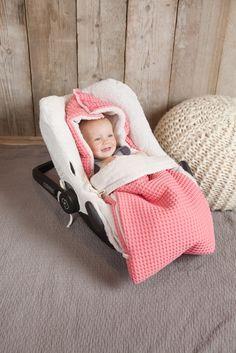Oslo baby sleeping bag waffle/teddy | Koeka webshop