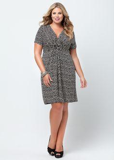 Casual, Black, White, Size 14 Plus Dresses & More - LISBETH DRESS - Virtu