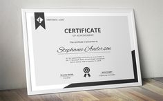 Modern MS Word certificate template by Inkpower on Creative Market