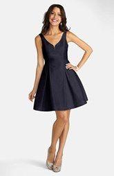 Donna Morgan Shantung Fit & Flare Dress
