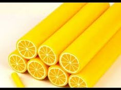 how to: lemon cane Citron Yuzu, Cane Fimo, Lemon Nails, My Favorite Color, My Favorite Things, Variety Of Fruits, Miniature Food, Christmas Candy, Clay Crafts