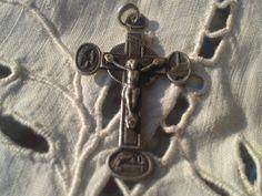 French Souvenir from Notre Dame de #Lourdes #Crucifix - 4 directions Cross…