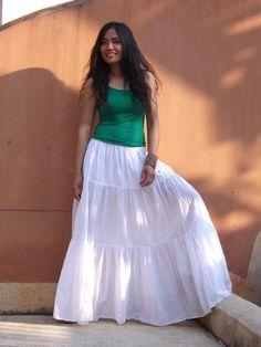 Color White by Ablaa on Etsy White Skirt Outfits, Maxi Skirt Outfits, White Skirts, Dress Skirt, Modest Skirts, Long Maxi Skirts, Boho Skirts, Peasant Skirt, Yoruba