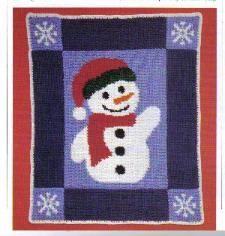 snowman afghan pattern