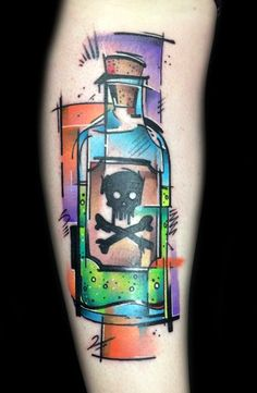 Poison tattoo by Hollywood. #poison #poisonbottle #tattooart #perfecttattoo