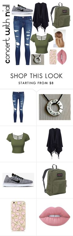 """Concert With Niall"" by hipopaws on Polyvore featuring J Brand, LE3NO, Joseph, NIKE, JanSport and Lime Crime"
