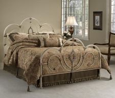 Victoria Classic Bed Set With Rails Queen Antique Home Bedroom Furniture White
