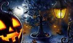 Halloween Design Full Round Drill Diamond Painting Kit X DIY Painting Cross Stitch H Retro Halloween, Scary Halloween Images, Photo Halloween, Feliz Halloween, Gothic Halloween, Halloween Trees, Halloween Pictures, Halloween Season, Halloween Night