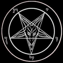 The Sigil of Baphomet, the official symbol of the Church of Satan features the Goat of Mendes inside an inverted pentagram.