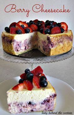 Berry pastel de queso - Lady Tras las cortinas