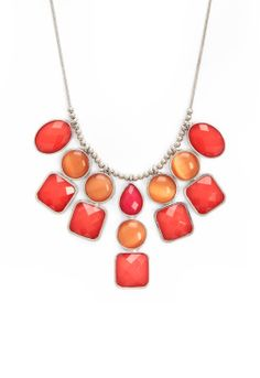 Coral Statement Necklace - Christopher & Banks Necklace to go with the dress