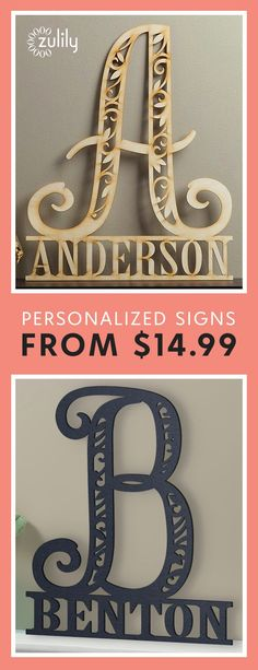 """Sign up to shop personalized family name signs from $14.99. Nothing says """"thoughtful"""" like a gift that's made just for you. Discover the power of personalization with wood name signs, personalized stockings, home décor and everything in between."""