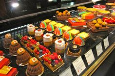 Exquisite cakes at Les Halles Paul Bocuse http://destinationfiction.blogspot.ca/2013/02/lyon-silk-and-gastronomy.html