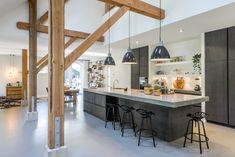 Home Interior Farmhouse .Home Interior Farmhouse Kitchen Inspirations, Wood Kitchen Cabinets, Modern Kitchen, Home Remodeling, Home Decor, House Interior, Home Kitchens, Rustic Kitchen, Kitchen Style