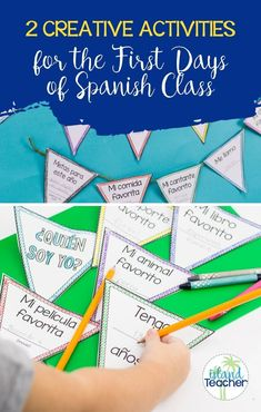 2 Creative Activities for the First Days of Spanish Class