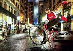 Valokuvausta ja kuvamanipulaatiota Liikenneturvan ja Taikuri Alfrendon yhteiseen kampanjaan.