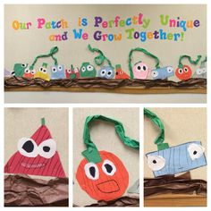 "Our class has gotten tons of compliments on our ""pumpkin patch"" art work inspired by Spookley the Square Pumpkim Fall Preschool, Preschool Classroom, In Kindergarten, Preschool Activities, Halloween Activities, Autumn Activities, Halloween Crafts, Pumpkin Crafts, Fall Crafts"