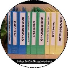 Tuesday Teacher Tips: Documentation ~ Tips and Tricks for teachers on how to organize all your data for different classes / different subjects with colored binders. *Includes a #Freebie