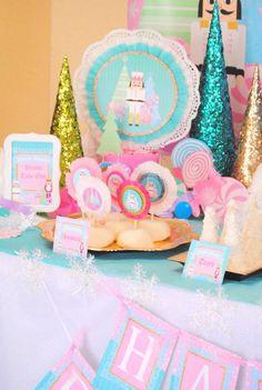 NUTCRACKER Birthday- Nutcracker Party- Ballerina Party- Winter Birthday Party- Snowflake- Nutcracker CUP WRAPPERS Ballerina Birthday, 3rd Birthday, Birthday Ideas, Baby Ballerina, Winter Birthday Parties, Christmas Parties, Nutcracker Christmas, Party Themes, Party Ideas
