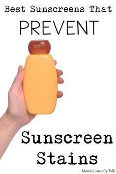 The sunscreens on the list will prevent those unsightly sunscreen stains on clothes!