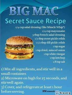 Secret sauce recipe in moderation lol