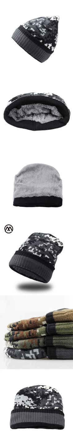 9dfc525a04f Casual Autumn Winter Wool Beanies Solid Thick Bonnet Knitted Skullies Men  Women Warm Ski Hat Soft Breathable Cap Fleece Gorras