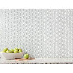 Winter Cloud Leaf Polished Glass Mosaic - 12 x 12 - 100248301   Floor and Decor