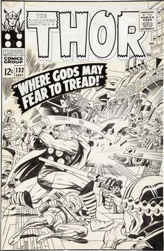 Cover to THOR #132 by Jack Kirby and Vince Colletta