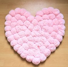 Pom Pom Carpet Rug Romantic Girl Lounge by PomPomMyWorld - Fabric Crafts Fabric Pom Poms, Diy Pom Pom Rug, Pom Pom Crafts, Fabric Crafts, Sewing Crafts, Pom Pom Animals, Animal Rug, Unique Baby Shower Gifts, Unusual Gifts